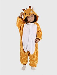 cheap -Kid's Kigurumi Kigurumi Pajamas Giraffe Animal Onesie Pajamas Polar Fleece Yellow Cosplay For Boys and Girls Animal Sleepwear Cartoon Festival / Holiday Costumes / Leotard / Onesie / Leotard / Onesie