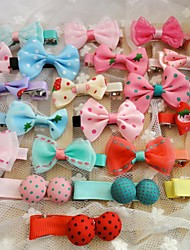 cheap -Dog Hair Accessories Hair Bow Dog Clothes Blue Pink Light Blue Mixed Material Costume For Spring &  Fall
