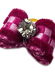 cheap -Dog Hair Accessories Dog Clothes Purple Rose Red Nylon Mixed Material Costume For Spring &  Fall