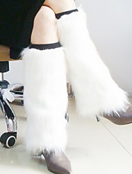 cheap -Women's White or Pink Faux Fur Leg Warmers Christmas Accessories