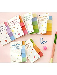 cheap -Rainbow Sticky Notes Multicolor Post It Memo Pad Scrapbooking Stickers Bookmark