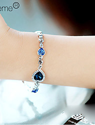 cheap -Women's Sapphire Crystal Charm Bracelet Layered Stacking Stackable Aquarius Ladies Multi Layer Alloy Bracelet Jewelry Royal Blue For Party Casual Daily Sports