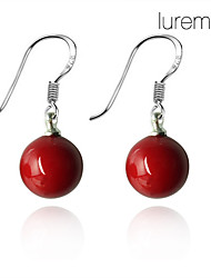 cheap -Women's Drop Earrings Ladies Pearl Sterling Silver Earrings Jewelry Red For Daily