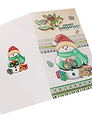 cheap -Stereo Folded Christmas Card(8PCS)