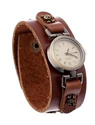 Недорогие -женская мода старинные кожаный браслет часы (аксессуары случайный)