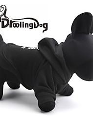 cheap -Cat Dog Hoodie Winter Dog Clothes Black Costume Terylene XS S M L