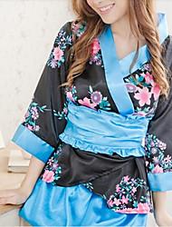 cheap -Sexy Black And Blue Women's Kimono