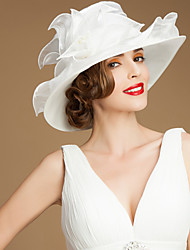 cheap -Organza Kentucky Derby Hat / Hats with Sash / Ribbon 1 Wedding / Special Occasion / Casual Headpiece