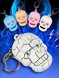 Недорогие -страшно череп головы LED Звук брелок (больше цветов)
