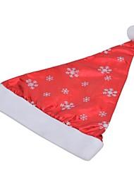 Недорогие -Стильные снежинка узор нетканые + Pleuche Рождество шляпу - красный + белый