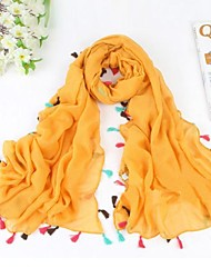 cheap -Women Cotton Blend/Polyester Scarf , Casual