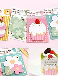 cheap -Cute Cartoon Post-It Notes Index Flag Sticky Notes Paper Stickers Memo Pad Bookmark Marker (Random Color,20 Pages)