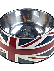 cheap -National Flag Pattern Stainless Steel Food Bowl for Pets Dogs