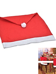 cheap -Christmas Style Non-woven Fabric Chair Cover - Red + White (Large Size)