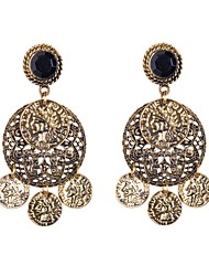 cheap -Women's Drop Earrings Rhinestone Earrings Jewelry Gold / Black / Silver / Black For Wedding Party Daily Casual Sports