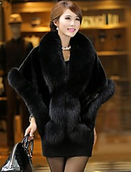 cheap -Long Sleeve Capelets Faux Fur Wedding / Party Evening Fur Wraps With Smooth / Fur