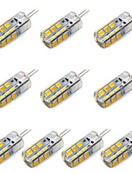 cheap -10pcs 1.5 W LED Corn Lights 130-150 lm G4 T 24 LED Beads SMD 2835 Decorative Warm White White 12 V / 10 pcs