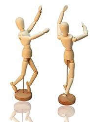 """Недорогие -20 см / 8 """"гибкий 14-совместное подвижный деревянный манекен фигура куклы Настольная подставка игрушка для домашнего офиса"""