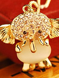 cheap -Women's Pendant Necklace Elephant Animal Ladies Casual / Daily Fashion Alloy Gold Necklace Jewelry For