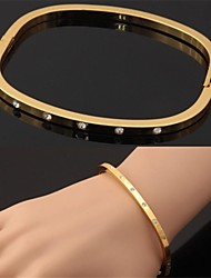 cheap -Women's Bracelet Bangles Rhinestone Bracelet Jewelry Silver / Golden For Christmas Gifts Wedding Party Daily Casual Sports / Platinum Plated / Gold Plated