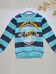 cheap -Striped Long Sleeve Long Long Tee Blue