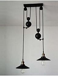 cheap -Retro Iron 2-light  Pendant Light 220-240V