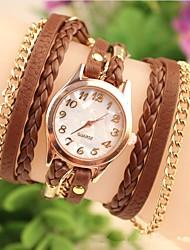 cheap -Women's Fashion Watch Bracelet Watch Quartz Leather Black / White / Brown Casual Watch Analog Bohemian - Black Brown White