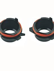 cheap -Car H7 HID Xenon Head Bulb Conversion Adapters Sockets Black for BMW E39 5 Series 525i 528i 530i 540i(2pcs)