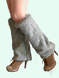 cheap -Women's Grey Faux Fur Leg Warmers Christmas Accessories
