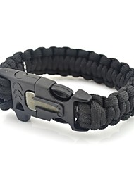 cheap -Paracord Bracelet Survival Bracelet Fire Starter Survival Whistle Tactical Emergency Survival First Aid Whistle Portable Fire Starter Whistle Nylon Alloy Camping / Hiking Fishing Outdoor Black Green