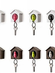 cheap -Keychain Key Chain Hook Key Chain Holder for Wall Bird Personalized Unique Wooden Metalic ABS Mini Car Vehicles Toys for Party Favor or Kids Birthday Gift 2 pcs