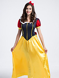 cheap -Princess Fairytale Cosplay Costume Party Costume Women's Christmas Halloween Festival / Holiday Polyester Women's Carnival Costumes Patchwork / Headwear