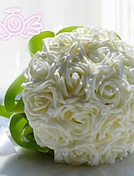 abordables -Fleurs de mariage Bouquets Mariage Dentelle / Polyester 28cm