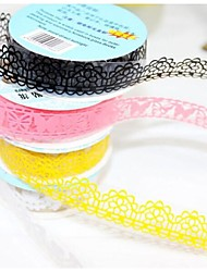 cheap -Lace Adhesive Tape Masking Tape Decorative Stickers Stationery for Scrapbooking (1.8*100cm,Random Color)