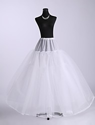 cheap -Wedding Slips Nylon Floor-length A-Line Slip / Ball Gown Slip with Lace-trimmed bottom