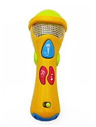 cheap -1PCS Yellow Plastic Music Microphone Toy For Baby  Early Education (My First Microphone)