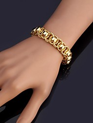 cheap -Women's Chain Bracelet Bracelet Bangles Bracelet Chunky Ladies Fashion Platinum Plated Bracelet Jewelry Silver / Golden For Christmas Gifts Wedding Party Special Occasion Birthday Gift / Gold Plated