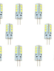 cheap -2.5 W LED Bi-pin Lights 200-250 lm G4 24 LED Beads SMD 2835 Warm White Cold White 12 V / 10 pcs / RoHS