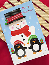 cheap -Glitter Powder Christmas Cards