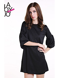 cheap -Women's Black Dress Spring Daily Solid Colored