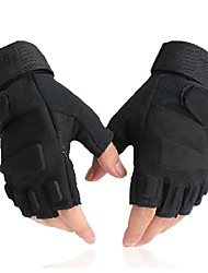 cheap -Bike Gloves / Cycling Gloves Mountain Bike MTB Tactical Breathable Anti-Slip Sweat-wicking Fingerless Gloves Half Finger Sports Gloves Lycra Terry Cloth Black for Adults' Outdoor