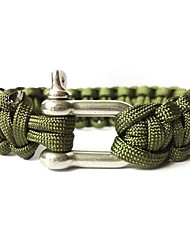 cheap -Paracord Bracelet Survival Bracelet Tactical Adjustable Emergency Survival Portable Alloy Camping / Hiking Hunting Fishing Red Green Light Blue