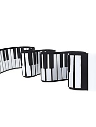 cheap -Roll Up Piano / Electronic Keyboard 88 Keys Silicone 22.0*13.0*6.5 cm
