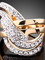 cheap -Statement Ring Cubic Zirconia Pave Screen Color Cubic Zirconia Gold Plated Imitation Diamond Ladies Unusual Luxury / Women's