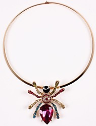 cheap -Women's Europe Colorful Crystal Araneid Necklace