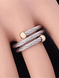 cheap -Women's Statement Ring wrap ring Stainless Steel Gold Plated Circle Ladies Wedding Party Jewelry Adjustable