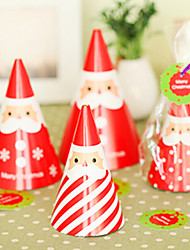 cheap -DIY Standing Santa Christmas Card(4PCS)
