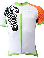cheap -ILPALADINO Men's Short Sleeve Cycling Jersey Polyester White Bike Jersey Top Breathable Quick Dry Ultraviolet Resistant Sports Clothing Apparel / Stretchy / Back Pocket