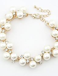 cheap -Clear White Bracelet Ladies Pearl Bracelet Jewelry White For Daily / Imitation Diamond