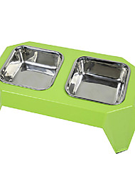 cheap -Double Stainless Steel Food Bow Dining-table for Pets Dogs